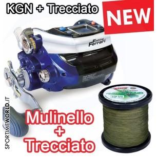 Mulinello Elettrico Fishing Ferrari Lineaeffe KGN 1000 NEW + Filo Trecciato 1000 mt