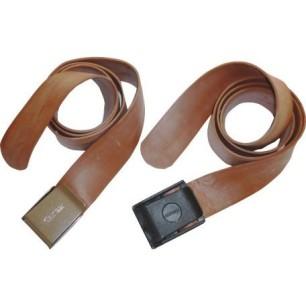 Seatec Cintura elastica Marrone Fibia Inox