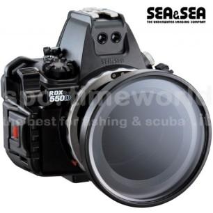 Kit Custodia Subacquea Sea&Sea RDX-550D per Canon 550D / 500D / 450D (custodia,oblò zoom e ghiera zoom 18-55)