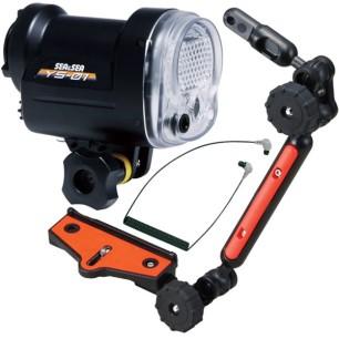 Lampeggiatore Flash Sea&Sea YS - 01 + Kit: Cavo a Fibra Ottica e Braccio SEA ARM VII