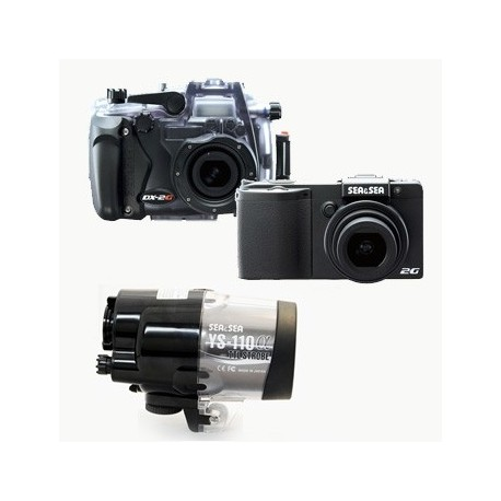 Fotocamera Sea&Sea DX - 2G + Set Custodia + Set Flash YS - 110 α DS - TTL