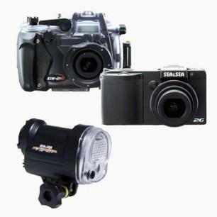 Fotocamera Sea&Sea DX - 2G + Set Custodia + Set Flash YS - 01