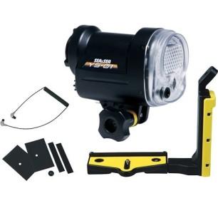 """Lampeggiatore Flash Sea&Sea YS - 01 + Kit: Cavo a Fibra Ottica e Braccio e Staffa Sea&Sea tipo """"S"""""""